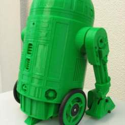Download free 3D printing designs r2d2 + arduino, Obenottr3D