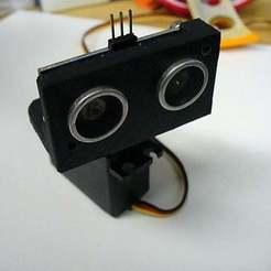 Descargar diseños 3D gratis Montaje de servomecanismo para el sensor de sonar, Obenottr3D