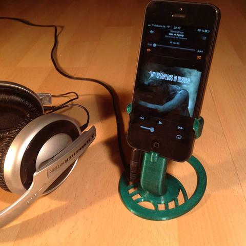 Télécharger objet 3D gratuit iPhone 5 Support, Obenottr3D