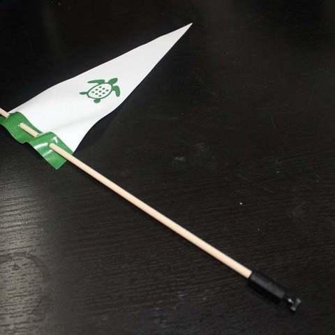 Download free 3D printer templates Flag Mount for TurtleBot, Obenottr3D