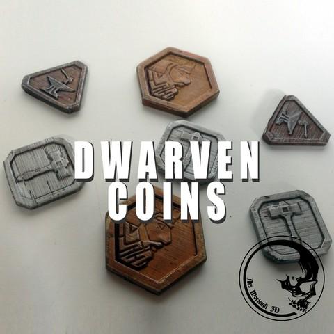 Descargar Modelos 3D para imprimir gratis Monedas enanas / fichas, ArsMoriendi3D