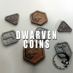 Download free 3D printing files Dwarven coins / tokens, ArsMoriendi3D