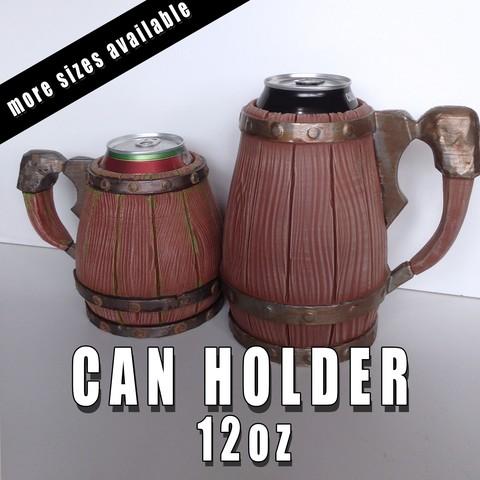 Impresiones 3D gratis Porta-latas - 12oz, ArsMoriendi3D