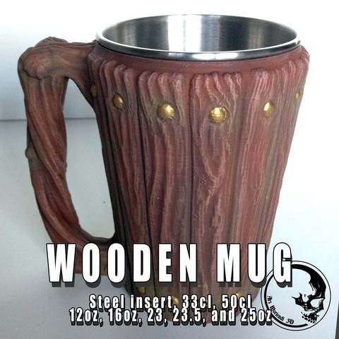 Descargar modelos 3D gratis Taza de madera / Porta-latas, ArsMoriendi3D