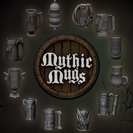 Download Free 3d Printing Designs Mythic Mugs Lion S Brew Can Holder Storage Container Cults