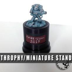 Download free 3D printer templates Trophy / Miniature Stand, ArsMoriendi3D