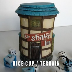 Download 3D printing models Dice Cup - The Shaky Inn, ArsMoriendi3D