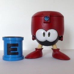 Eddie01.jpg Download free STL file Eddie - Megaman - E-tank • 3D printer template, ArsMoriendi3D