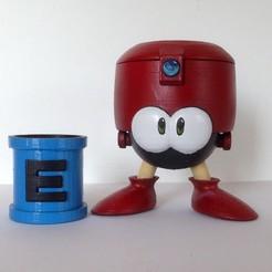 Eddie01.jpg Télécharger fichier STL gratuit Eddie - Megaman - E-tank • Plan à imprimer en 3D, ArsMoriendi3D