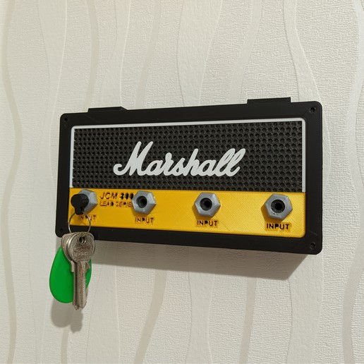 Télécharger fichier 3D Porte-clés mural Marshall, warenito