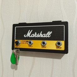 Download 3D printing templates Marshall Wall Keychain, warenito