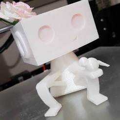 Télécharger fichier impression 3D Bonhomme pot de fleur, warenito