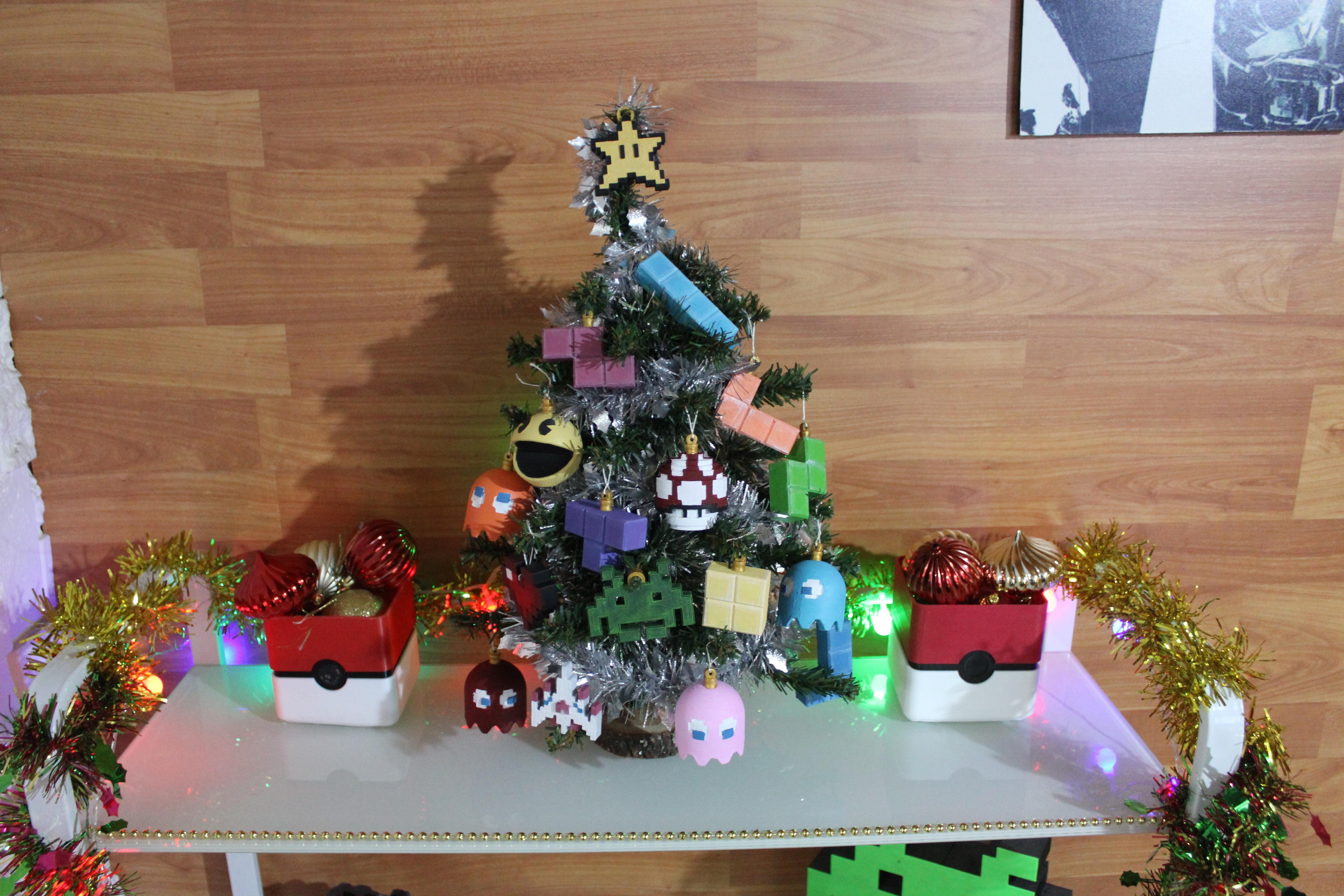 IMG_0803.JPG Download STL file Christmas tree decoration (retro game edition) • 3D printable template, jayceedante