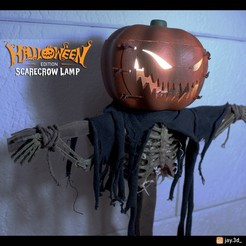5.jpg Download STL file Scarecrow Lamp Halloween • 3D printing model, jayceedante