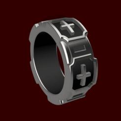ANILLO TEMPLARIO v1 img 1.png Télécharger fichier STL Anneau de style templier • Design pour impression 3D, jayceedante
