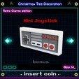 mini joystick ready.jpg Download STL file Christmas tree decoration (retro game edition) • 3D printable template, jayceedante