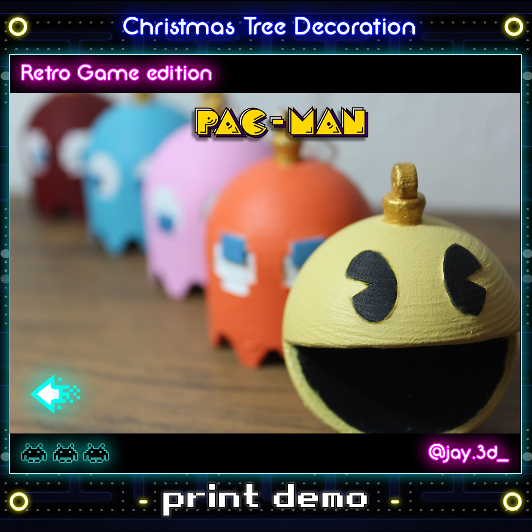 Print demo 4 Ready.jpg Download STL file Christmas tree decoration (retro game edition) • 3D printable template, jayceedante
