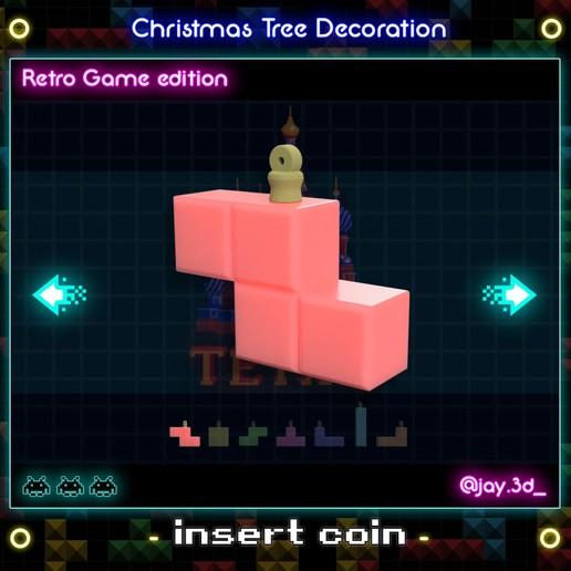 Tetrimino 1.jpg Download STL file Christmas tree decoration (retro game edition) • 3D printable template, jayceedante