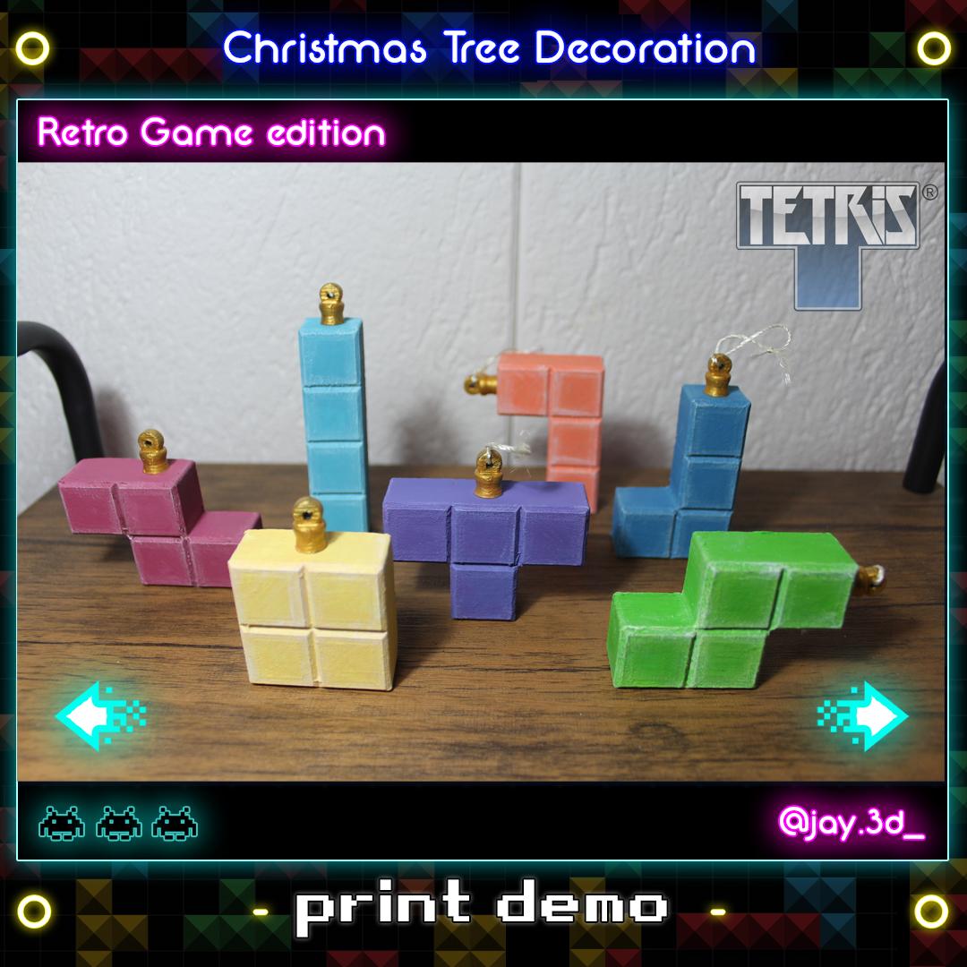 print demo 1.jpg Download STL file Christmas tree decoration (retro game edition) • 3D printable template, jayceedante