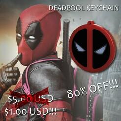 editada 1.jpg Télécharger fichier STL Porte-clés avec logo de Deadpool • Design imprimable en 3D, jayceedante