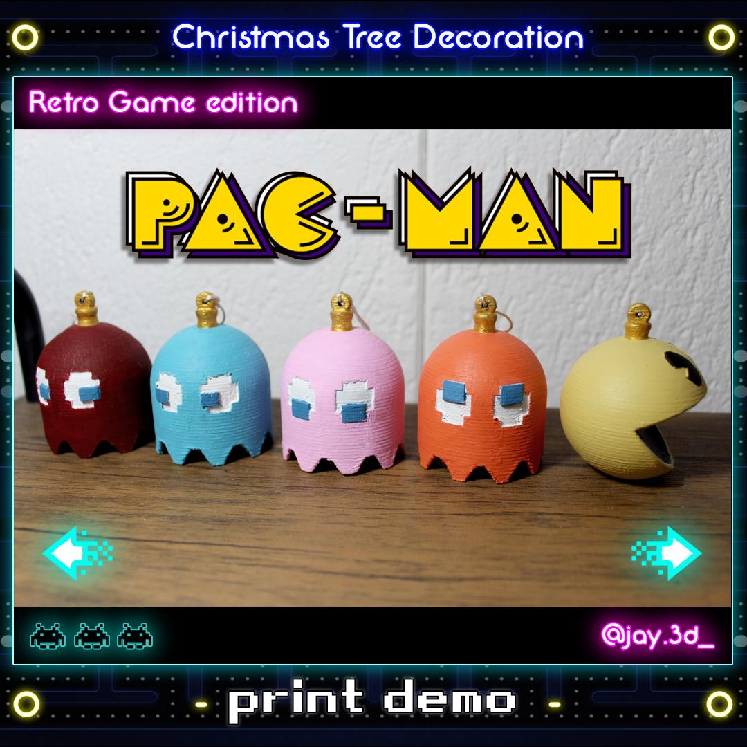 Print demo 1 Ready.jpg Download STL file Christmas tree decoration (retro game edition) • 3D printable template, jayceedante