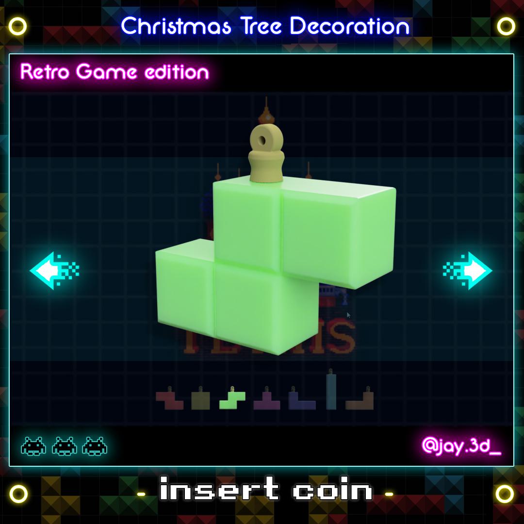 Tetrimino 3.jpg Download STL file Christmas tree decoration (retro game edition) • 3D printable template, jayceedante