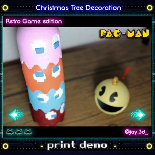 Print demo 3 Ready.jpg Download STL file Christmas tree decoration (retro game edition) • 3D printable template, jayceedante