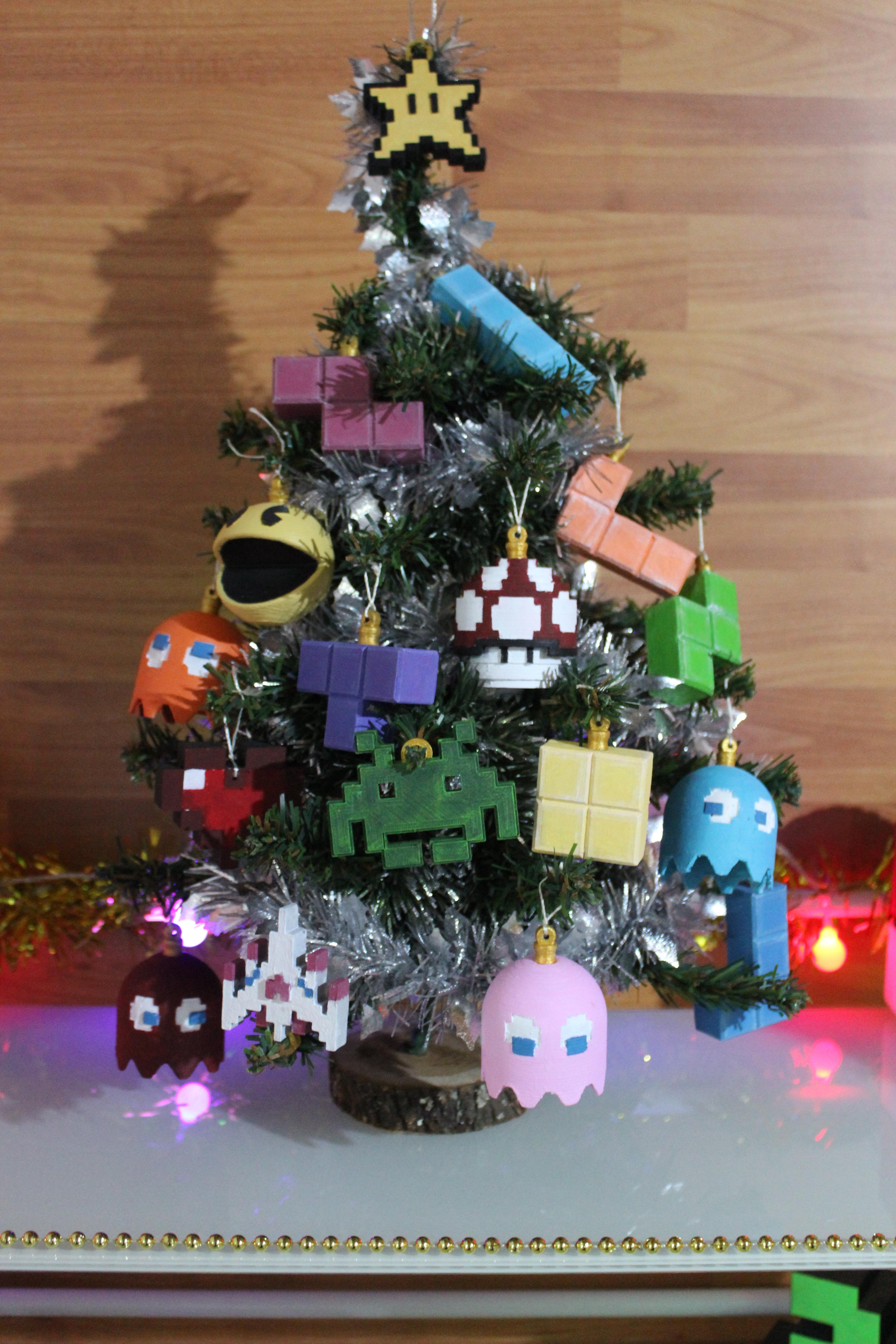 IMG_0823.JPG Download STL file Christmas tree decoration (retro game edition) • 3D printable template, jayceedante