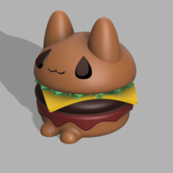 michiamburguesa v5.png Download STL file Michiburger :3 (catburger) • 3D print template, jayceedante
