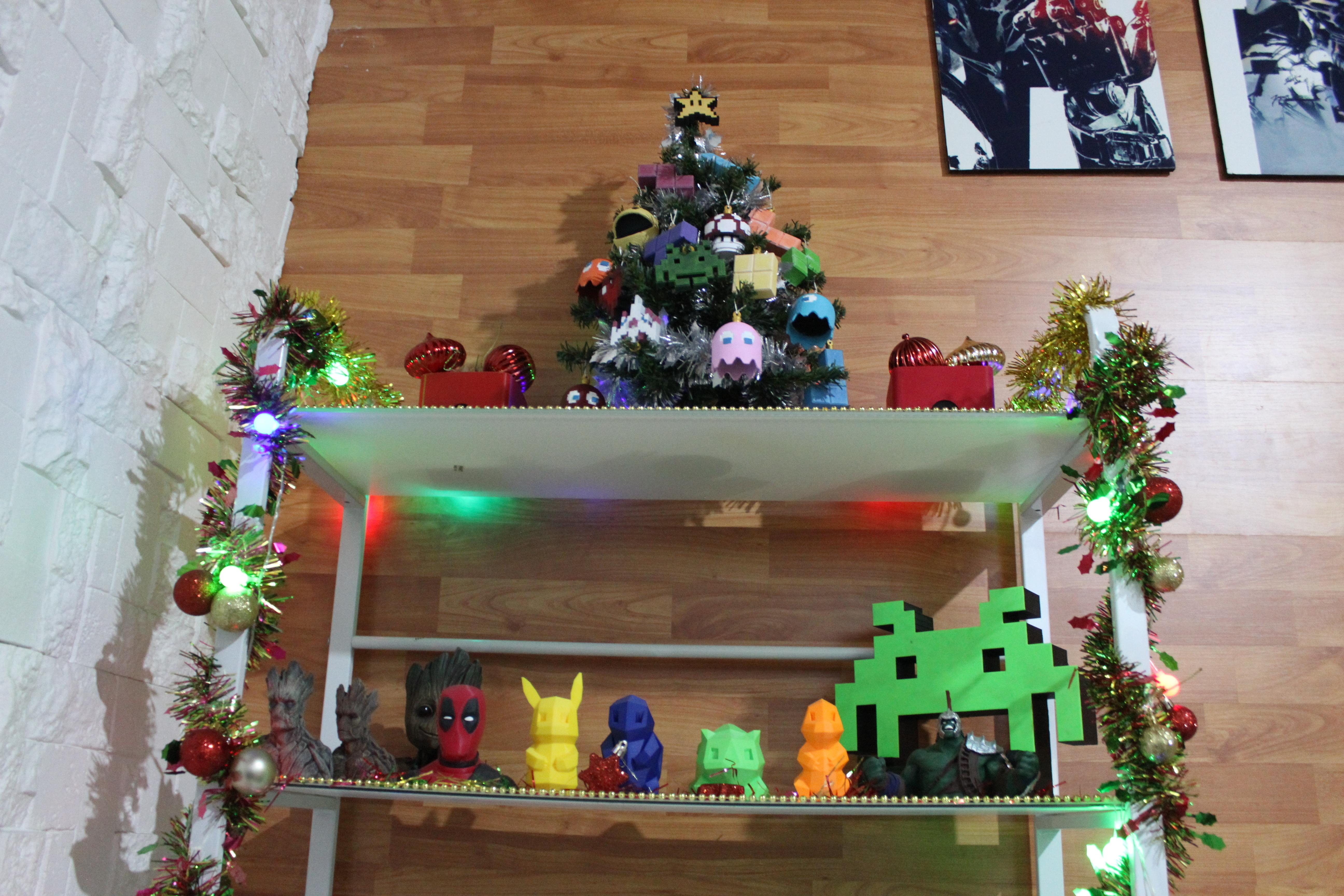 IMG_0800.JPG Download STL file Christmas tree decoration (retro game edition) • 3D printable template, jayceedante