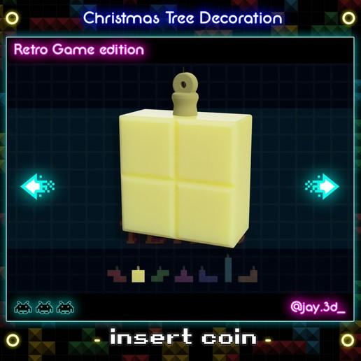 Tetrimino 2.jpg Download STL file Christmas tree decoration (retro game edition) • 3D printable template, jayceedante