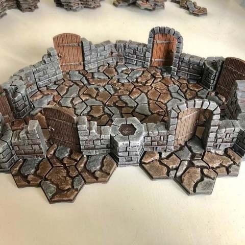 Download free 3D printer files Axolote Hex Dungeon Set - Alternative Doors, Gronis