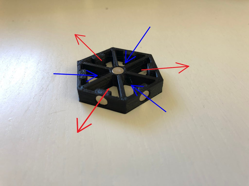 3548ec3ed624e0e6cb1e76c6a2b2b148_display_large.jpg Download free STL file Magnetic Hex connector for Axolote Hex • Model to 3D print, Gronis