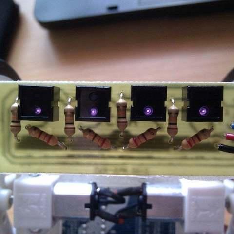 Télécharger fichier STL gratuit Réseau de capteurs CNY70 pour robots d'impression[Git repo]., Aralala