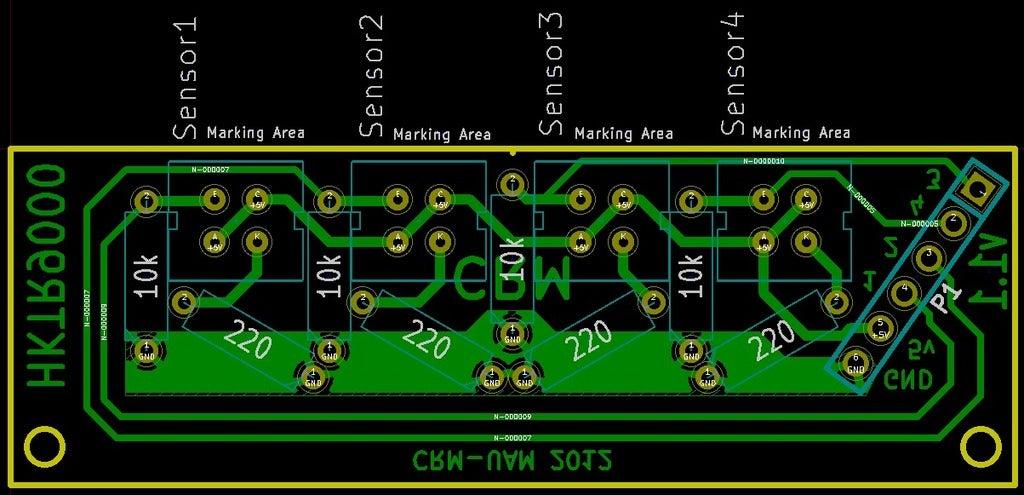 board_display_large.jpg Télécharger fichier STL gratuit Réseau de capteurs CNY70 pour robots d'impression[Git repo]. • Modèle pour impression 3D, Aralala