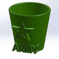 Descargar archivo 3D gratis Vaso de tiro del ejército, Aralala