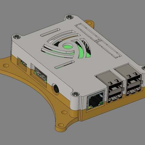 100mm-VESA_display_large.jpg Télécharger fichier STL gratuit Coffret Framboise Pi 3 (B/B+), Pi 2 B et Pi 1 B+ avec supports VESA et plus. • Objet imprimable en 3D, Aralala