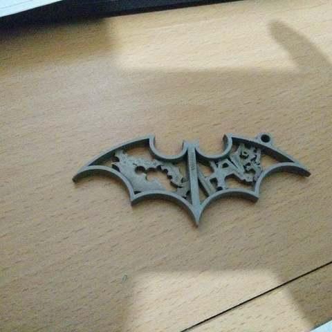 Download free 3D printer templates Batman Keychain, Aralala