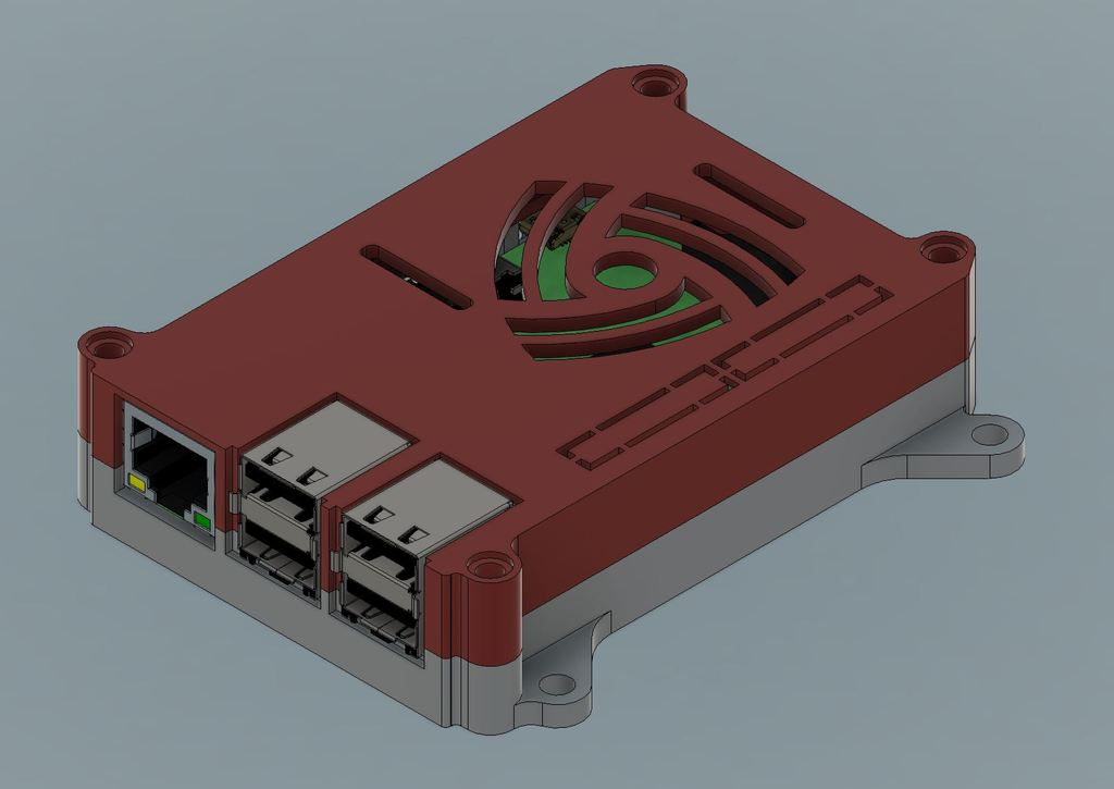 RPi-1_display_large.JPG Download free STL file Raspberry Pi 3 (B/B+), Pi 2 B, and Pi 1 B+ case with VESA mounts and more • 3D printable model, Aralala