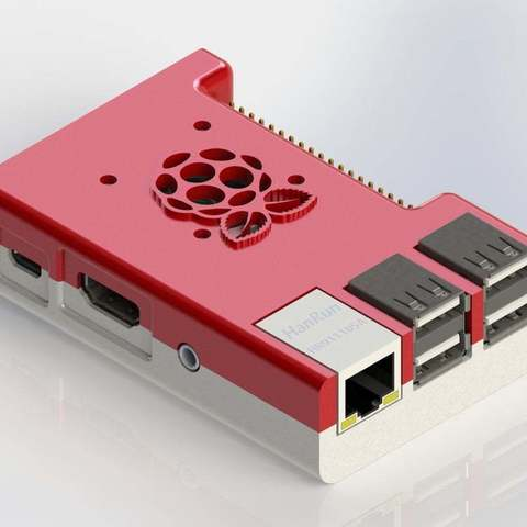 Download free 3D printing designs Raspberry Pi B+ Case With Fan, Aralala