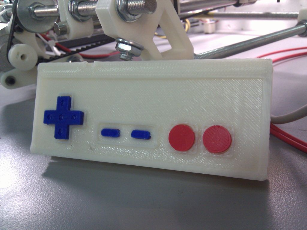 test_display_large_display_large.jpg Download free STL file Printable NES controller • 3D print object, Aralala
