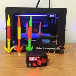3dprintedrocket_display_large.jpg Télécharger fichier STL gratuit Lance-roquettes Arduino pour fusées imprimées 3D • Objet à imprimer en 3D, Aralala