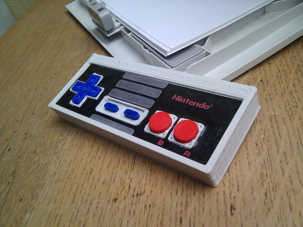 result_display_large_display_large.jpg Download free STL file Printable NES controller • 3D print object, Aralala