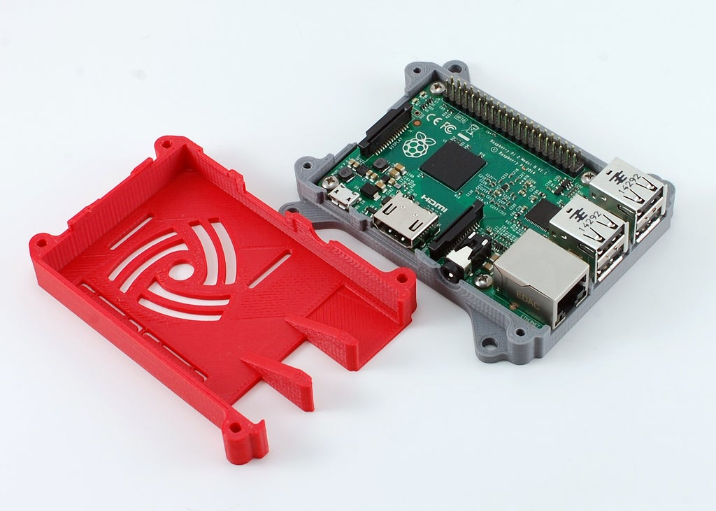 DSC_0027_display_large.JPG Download free STL file Raspberry Pi 3 (B/B+), Pi 2 B, and Pi 1 B+ case with VESA mounts and more • 3D printable model, Aralala