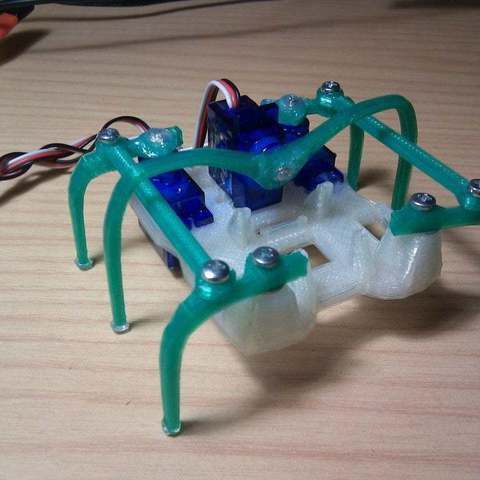 Download free STL files Printed Micro-Hexapod (Plate and code), Aralala