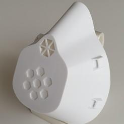 20200415_115039.jpg Télécharger fichier STL gratuit Masque Covid 19 avec/sans valve d'expiration (2h d'impression, pas de support) • Objet à imprimer en 3D, cagriahiskali