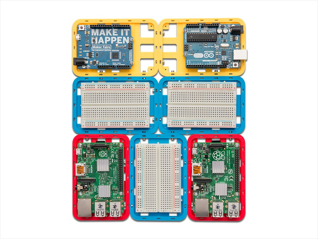 compilation_display_large.jpg Download free STL file Modular Support (Case) for Arduino and Raspberry Pi - CustoBlocks • 3D print template, Lassaalk