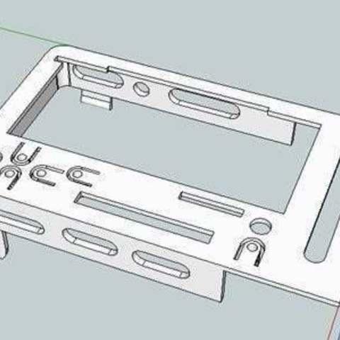 bbEBAUR3LCDTopWB_skp_display_large.jpg Télécharger fichier STL gratuit badBrick - Boîte à échos, support de base et dessus. • Modèle pour imprimante 3D, Lassaalk