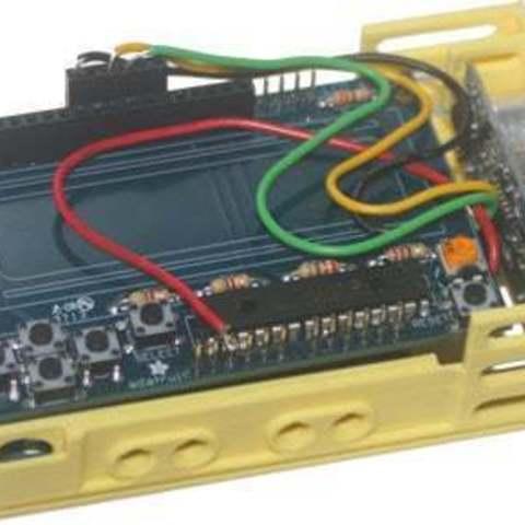 bbEBAUR3LCDUSBase_mnt_display_large.jpg Télécharger fichier STL gratuit badBrick - Boîte à échos, support de base et dessus. • Modèle pour imprimante 3D, Lassaalk