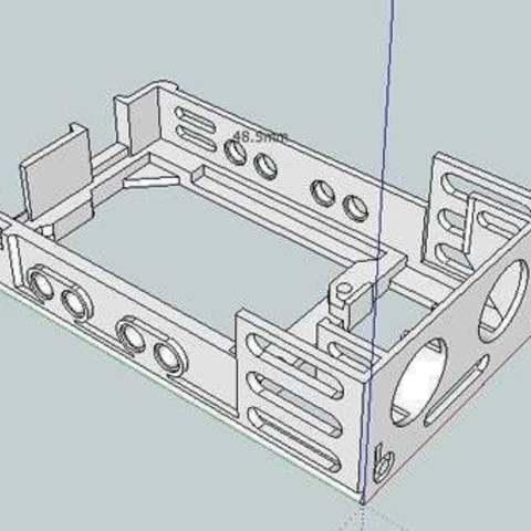 bbEBAUR3LCDUSBase_skp_display_large.jpg Télécharger fichier STL gratuit badBrick - Boîte à échos, support de base et dessus. • Modèle pour imprimante 3D, Lassaalk
